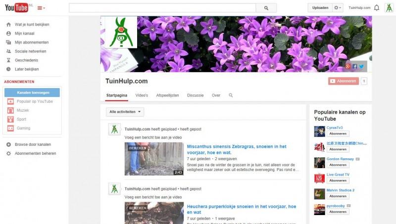 youtube kanaal tuinhulp